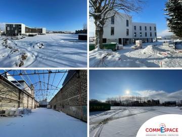 Les chantiers Commespace sous la neige…..