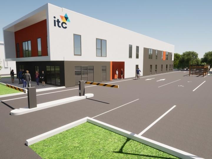 Le centre de formation ITC, École Supérieure de Management et de Commerce, s'installera prochainement dans un nouvel immeuble, rue Rabelais, à Saint-Brieuc qui sortira de terre en 2021……