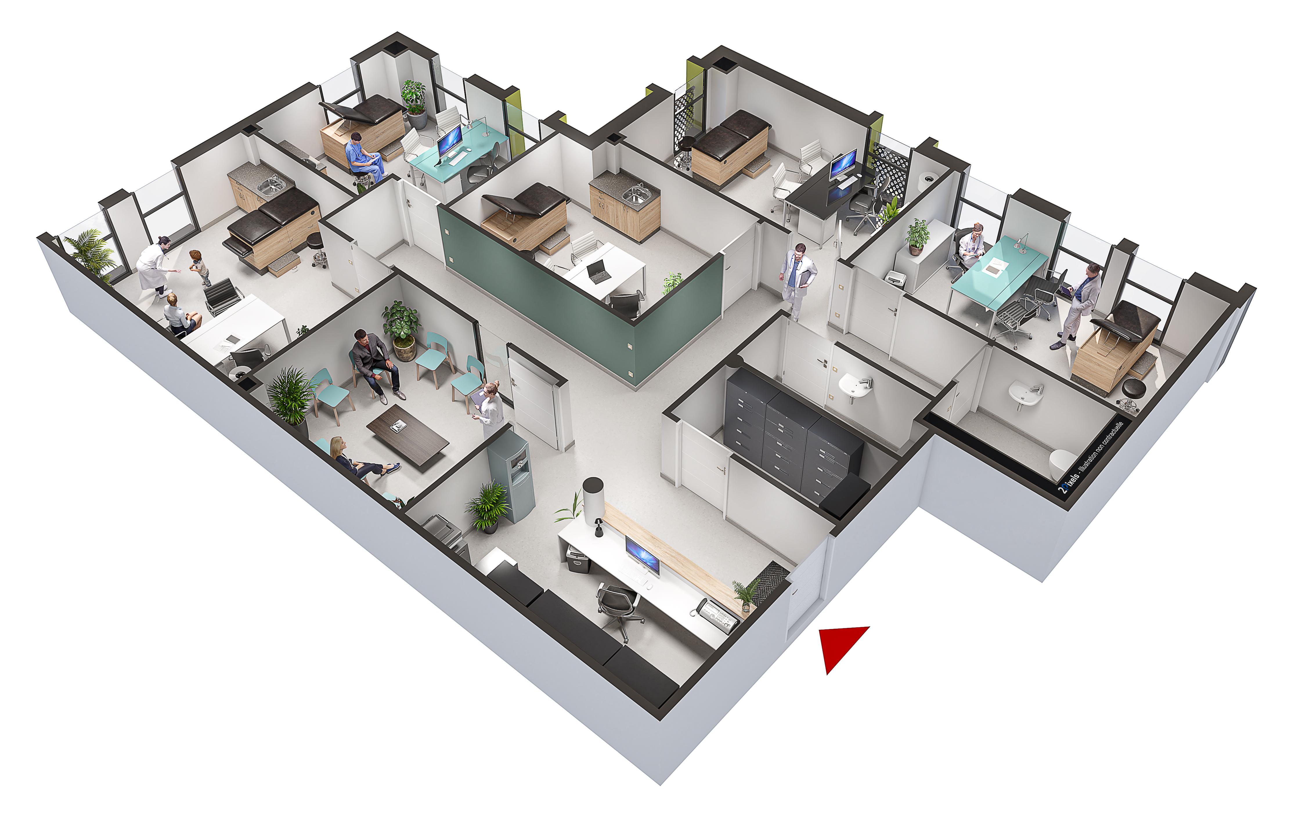 Le futur espace santé Keridoret construit par Commespace sera réalisé sur un terrain de 4 385 m²