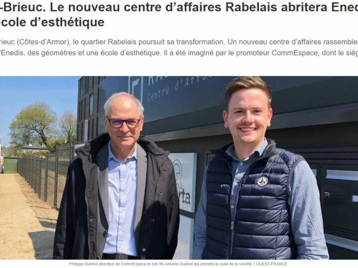 Ouest France – Le nouveau centre d'affaires Rabelais abritera Enedis